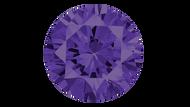 Cubic Zirconia Violet Round Brilliant Cut 10mm