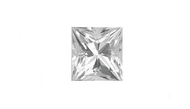 Cubic Zirconia White Princess Cut 6mm