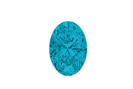 Cubic Zirconia  Aqua  Oval Faceted 7x5mm