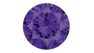 Cubic Zirconia Violet Round Brilliant Cut 6mm