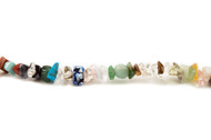 "Multi Stone Bead Chips 16"" - by the strand"