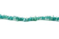 "Amazonite Bead Chips AA Grade 16"" - by the strand"