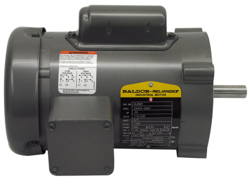 Leeson 1/3 HP Motor for Lortone Lapidary Slab Saw 300-022 (19159)