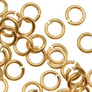 Gold Filled Jump Ring Open 4mm OD Heavy 18ga 100 pieces (21137)