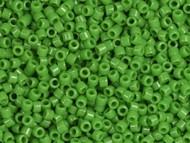 Miyuki Delica Seed Bead size 11/0 Green Pea Opaque DB 0724