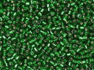 Miyuki Delica Seed Bead size 11/0 Emerald Silver Lined-Dyed DB 0605