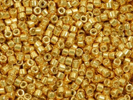 Miyuki Delica Seed Bead size 11/0 Yellow Gold Galvanized-Dyed DB 0410