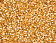 Miyuki Delica Seed Bead size 11/0 Gold Silver Lined   DB 0042 (56005)