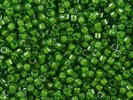 Miyuki Delica Seed Bead size 11/0 Green Lime Lined-Dyed DB 0274 (56045)