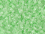 Miyuki Delica Seed Bead size 11/0 Light Crystal Green Ceylon Lined Dyed DB 0237