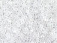 Miyuki Delica Seed Bead size 11/0 Crystal White Ceylon DB 0231