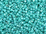 Miyuki Delica Seed Bead size 11/0 Turquoise Opaque AB DB 0166