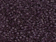 Miyuki Delica Seed Bead size 11/0 Dark Amethyst Transparent Matte Dyed DB 0784