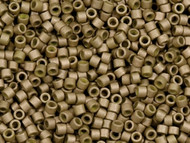 Miyuki Delica Seed Bead size 11/0 Olive Opaque Matte Glazed Luster DB 0391