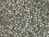 Miyuki Delica Seed Bead size 11/0 Smoke Grey Alabaster Opal Silver Lined-Dyed DB 0630