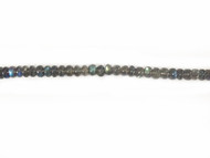 Labradorite 8mm Rondelle Beads - By the Strand