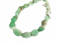 Chrysoprase 15x22mm Facetted Tumbled Nugget Beads  - By the Strand
