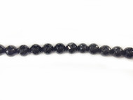 Black Spinel 8mm Facetted Round Beads - by the strand