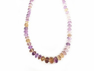 Ametrine Facetted Graduated Rondelle Beads  - by the strand