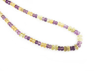 Amethyst And Citrine Graduated Facetted Rondelle Beads - by the Strand