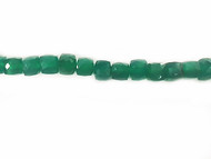Green Onyx Facetted Cube Beads - by the strand