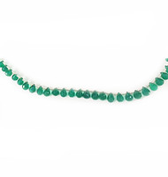 Green Onyx Facetted Drop Beads - by the strand