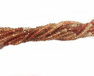 Red Rutilated Quartz  Facetted Rondelle beads - by the strand