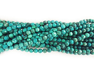 Turquoise Facetted Rounds 8mm - By The Strand