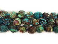 Blue/Brown Facetted Crazy Lace Agate Nuggets Approximately 18mm - By The Strand