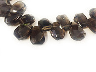 Smoky Quartz Facetted Briolettes 12x17mm - By The Strand