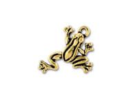 TierraCast Antique Gold Leap Frog Charm each