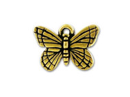 TierraCast Antique Gold Monarch Butterfly Charm each