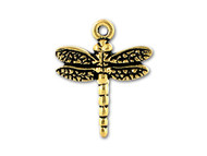 TierraCast Antique Gold Dragonfly Charm each