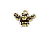 TierraCast Antique Gold Honey Bee Charm each