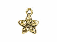 TierraCast Antique Gold Star Jasmine Charm each