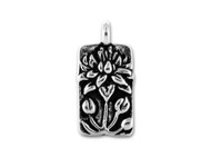 TierraCast Antique Silver Floating Lotus Charm each