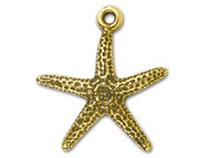 TierraCast Antique Gold Starfish Charm each