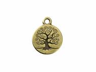 TierraCast Antique Brass Tree of Life Charm each