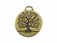 TierraCast Antique BrassTree of Life Pendant each (20198)