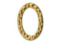 TierraCast Bright Gold Hammered Oval Ring Link each