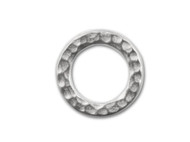 TierraCast Bright Rhodium Medium Hammered Ring Link each