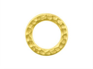 TierraCast Bright Gold Medium Hammered Ring Link each