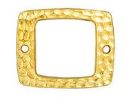 TierraCast Bright Gold Drilled Hammered Rectangle Link each
