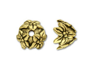 TierraCast Antique Gold Jasmine Bead Cap each