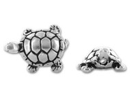 TierraCast Antique Silver Turtle Bead each