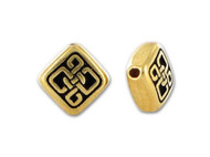 TierraCast  Antique Gold Small Celtic Diamond Bead each