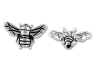 TierraCast Antique Silver Honey Bee Bead each