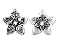 TierraCast Antique Silver Jasmine Bead each (20381)