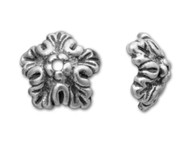TierraCast Antique Silver Oak Leaf Bead Cap each
