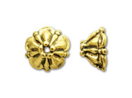 TierraCast Antique Gold 8mm Tiffany Bead Cap each